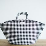 GINGHAM CHECK MARCHE BAG  LARGE