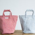 GINGHAM CHECK MARCHE BAG TALL