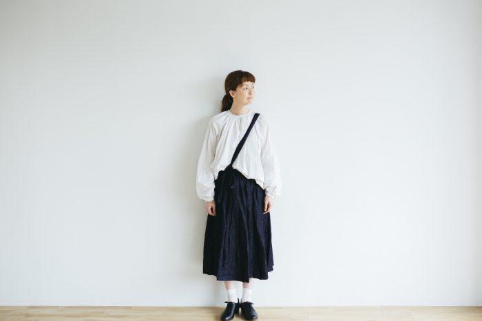 One Shoulder Strap Skirt  Indigo 1