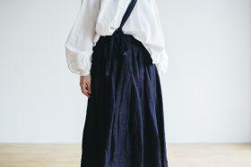 One Shoulder Strap Skirt  Indigo 2