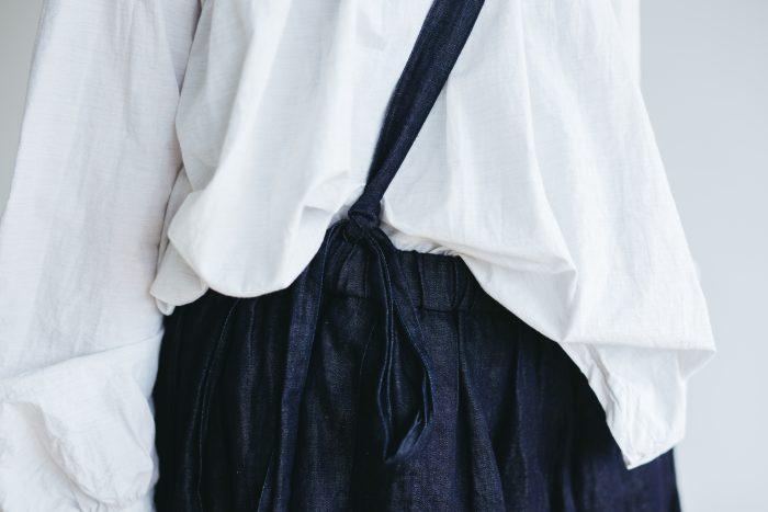 One Shoulder Strap Skirt  Indigo 4