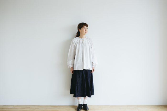 One Shoulder Strap Skirt  Indigo 5