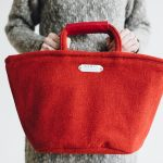 RED TWEED MARCHE BAG SMALL
