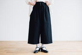 WEATHER COTTON Roomy Pants  -black- 6