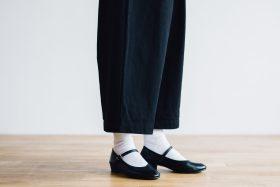 WEATHER COTTON Roomy Pants  -black- 3