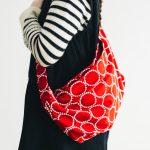 tambourine bag red