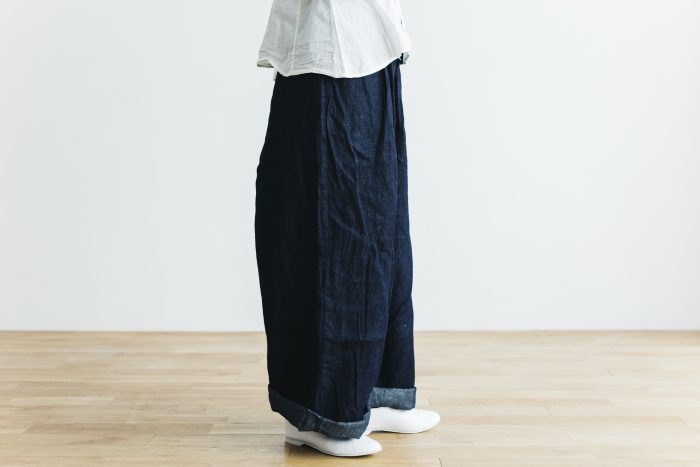 DENIM long roomy pants 2