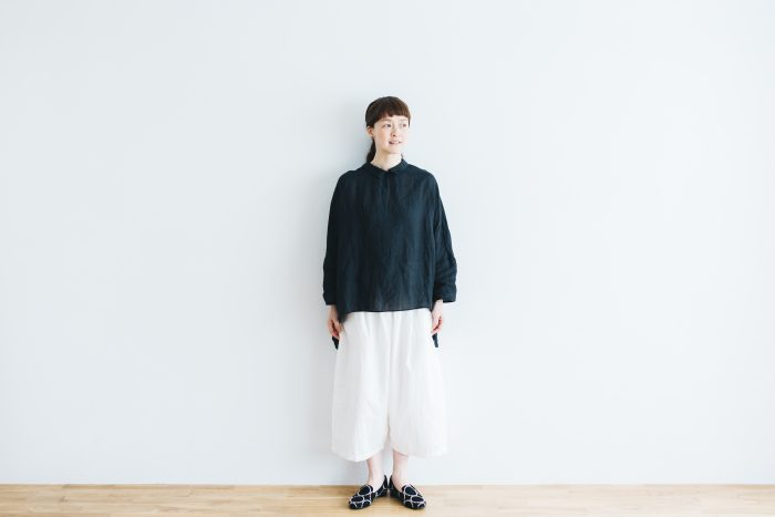 WETHER CLOTH WIDE SAROUEL PANTS   white 4
