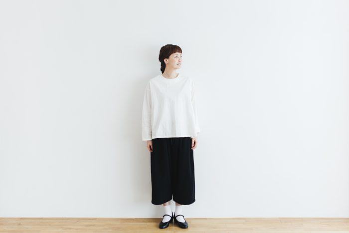 Wool Wide Sarouel pants  black 6