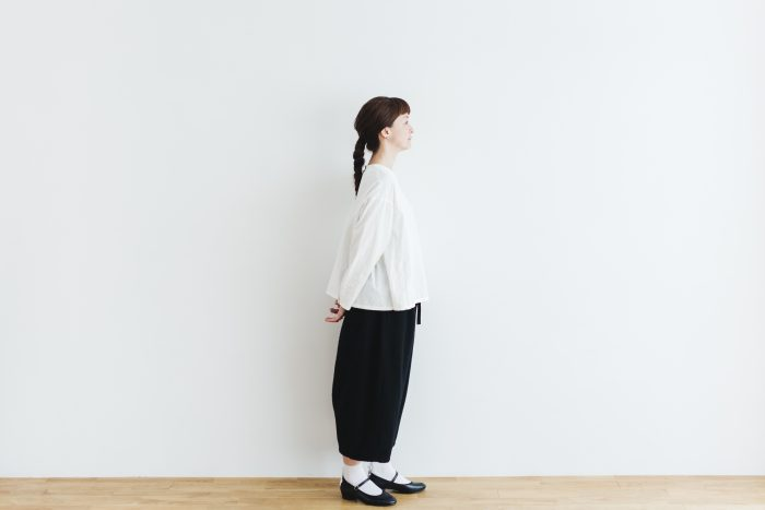 Cotton Side Gather Pullover offwhite 2