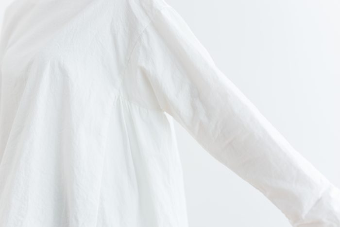 Cotton Side Gather Pullover offwhite 5