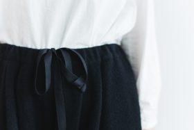 Wool Wide Sarouel pants  black 4