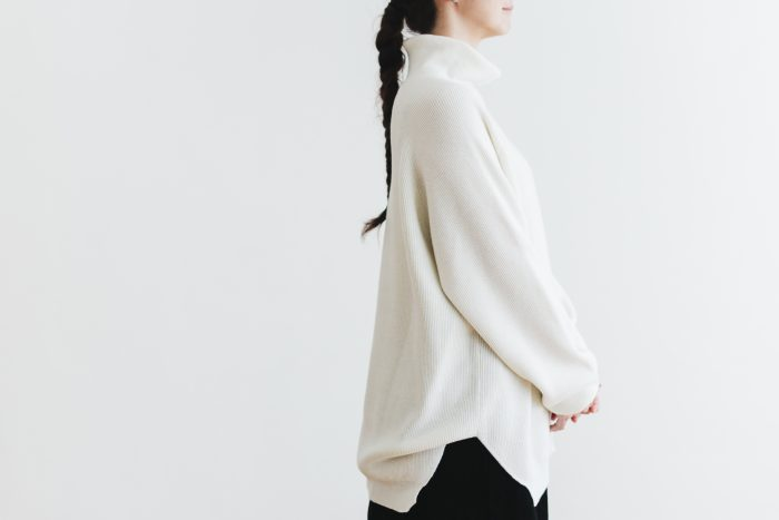 Wool turtle-neck Pull Over  milk 4
