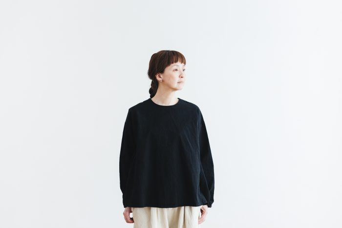Cotton Side Gather Pullover black 4
