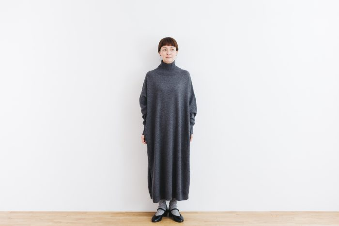 ANONYMOUS KNIT ONE PIECE  gray 1