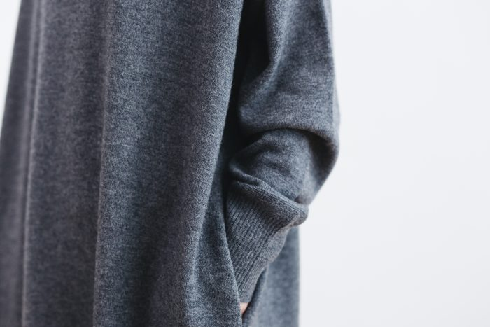 ANONYMOUS KNIT ONE PIECE  gray 5