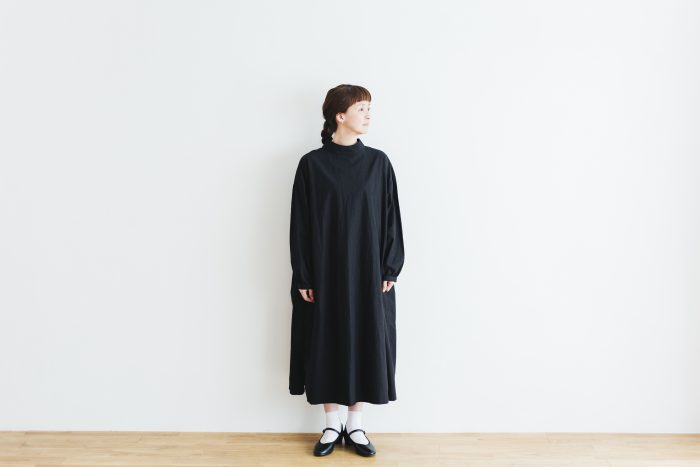 Cotton Linen 2way one-piece  black 1