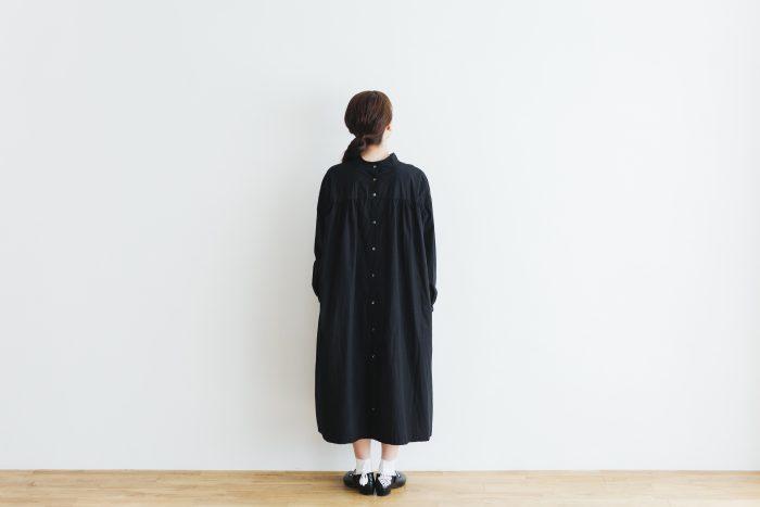 Cotton Linen 2way one-piece  black 3