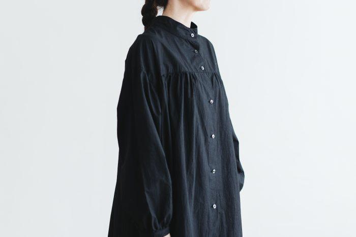 Cotton Linen 2way one-piece  black 5