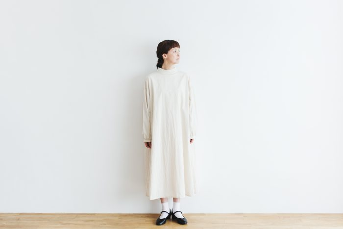 Cotton Linen 2way one-piece  ecru 1