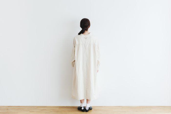 Cotton Linen 2way one-piece  ecru 3