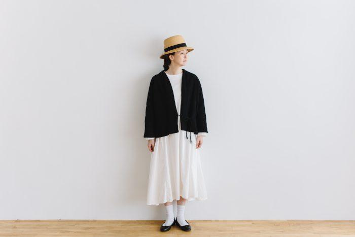 six layer cotton HAORI jaket  sumi black 1