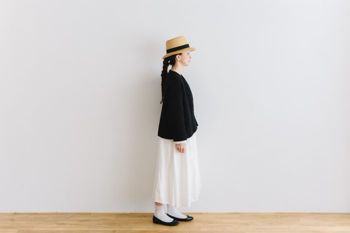 six layer cotton HAORI jaket  sumi black 2