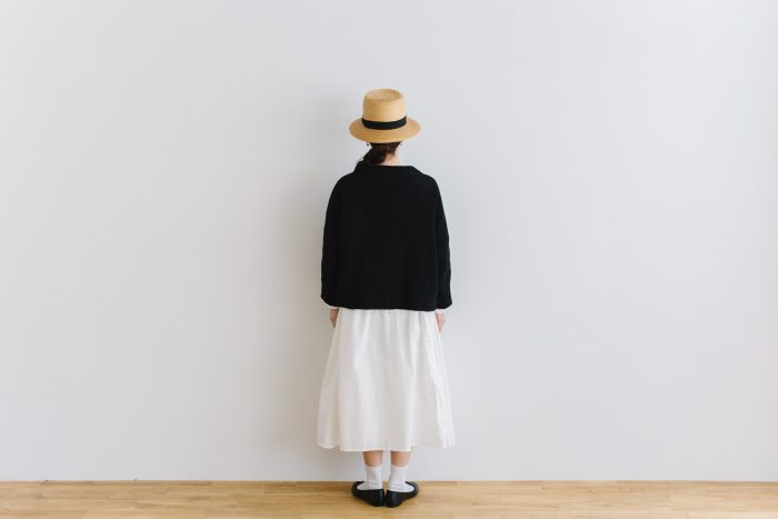 six layer cotton HAORI jaket  sumi black 3