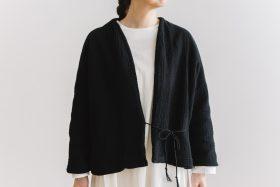 six layer cotton HAORI jaket  sumi black 4