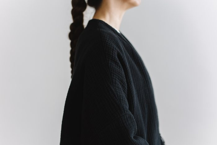 six layer cotton HAORI jaket  sumi black 5