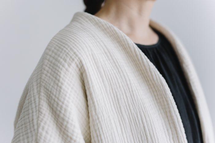 six layer cotton HAORI jaket  kinari 4