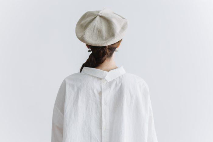 roll collar 2way blouse  mat white 5