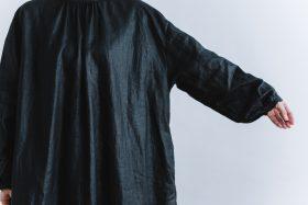 original coating linen antique 2way  one-piece black 4