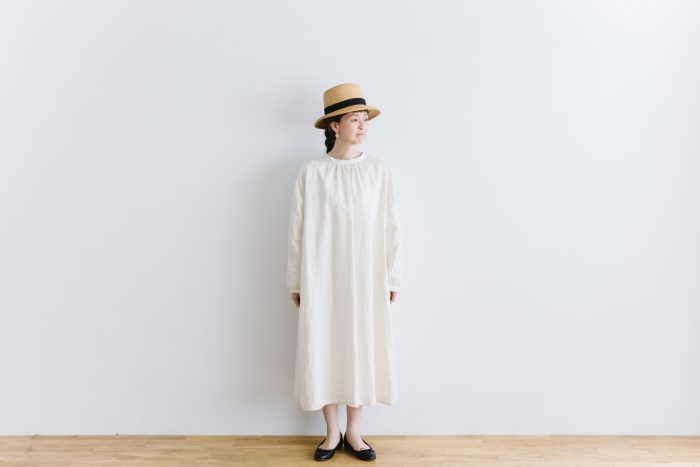 original coating linen antique 2way  one-piece white 1