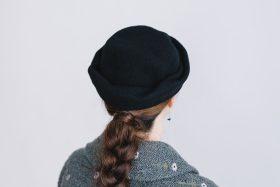 FELT HAT black 6