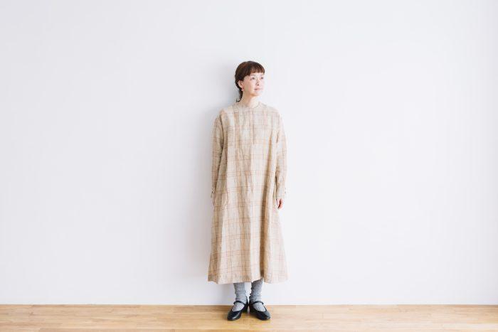 SCOTTISH CHECK PULLOVER DRESS  beigecheck 4