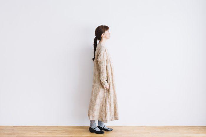 SCOTTISH CHECK PULLOVER DRESS  beigecheck 5