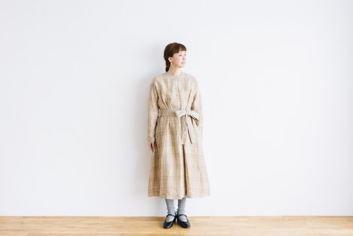 SCOTTISH CHECK PULLOVER DRESS  beigecheck 2