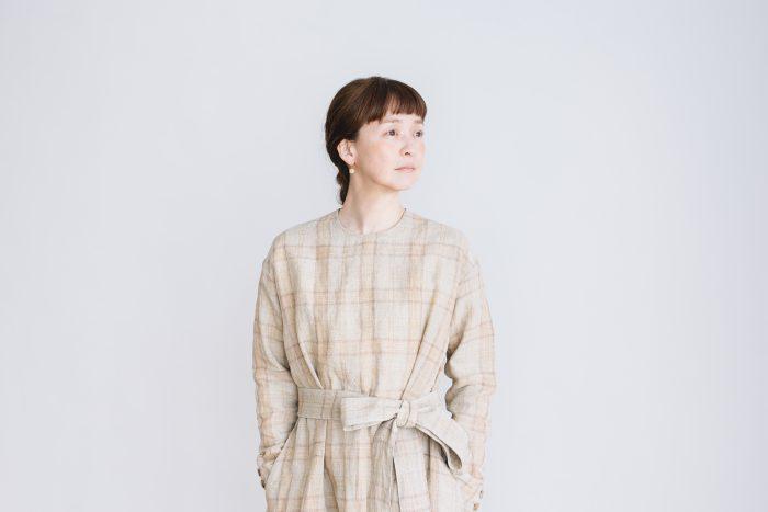 SCOTTISH CHECK PULLOVER DRESS  beigecheck 1