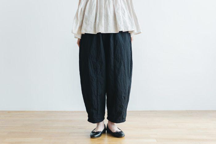 cotton nylon short charlie pants  black 1