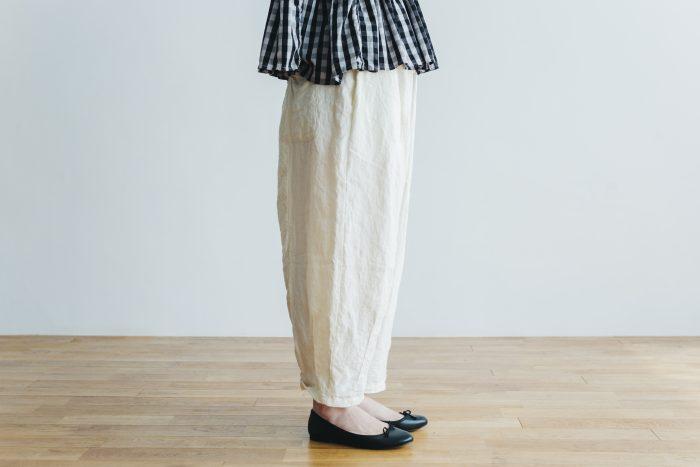 linen short charlie pants  white 2