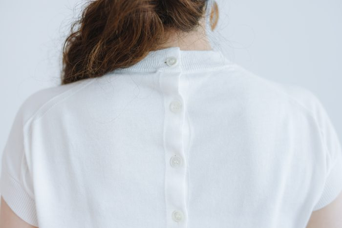 SEA ILAND COTTON BACK BUTTON FRENCH SLEEVE  white 5