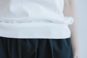 SEA ILAND COTTON BACK BUTTON FRENCH SLEEVE  white 6