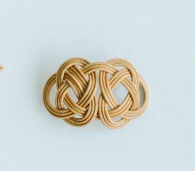 ensemble 籐の帯留め ① 1