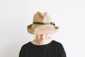 BOXED HAT brim 11㎝  khaki 2