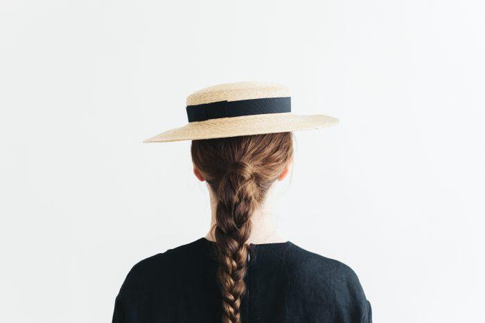 6mm braid straw hat short 3