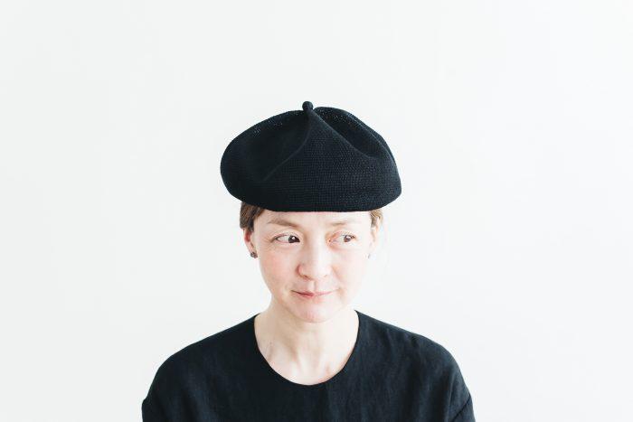 berer top gather linen  black 1