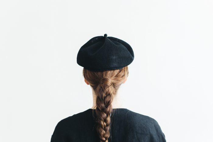 berer top gather linen  black 3