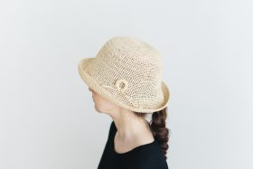 raffia hat short ornament 2