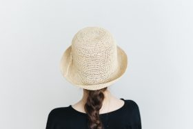 raffia hat short ornament 3
